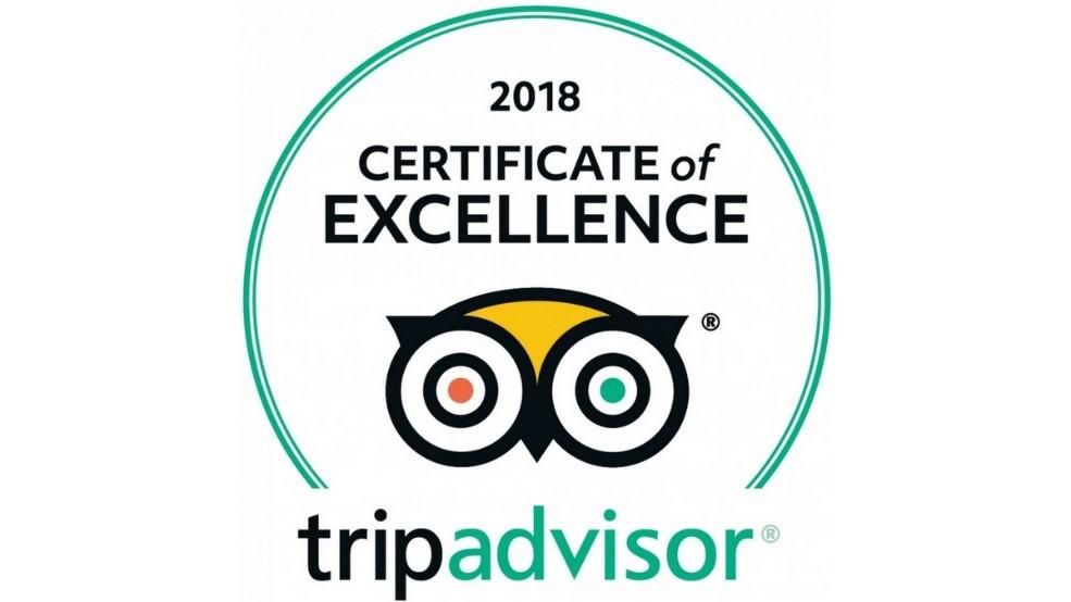 2018 tripadvisor Certificate of Excellence